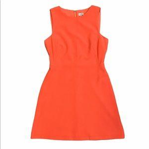 Cremieux Solid Orange Sleeveless Sheath Dress